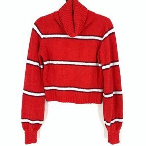 Wild Fable Red Knit Cowlneck Sweater Medium